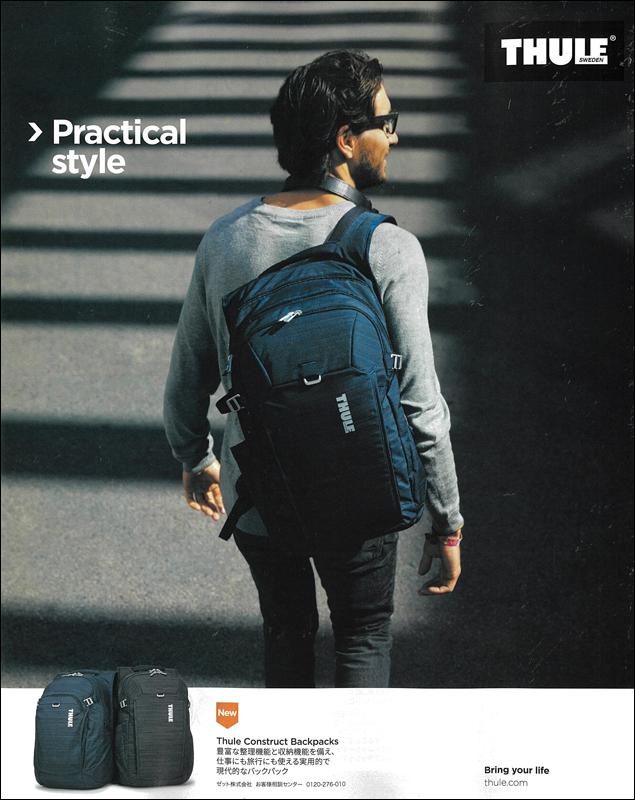 Thule Construct Backpacks スーリー コンストラクト バックパック 掲載